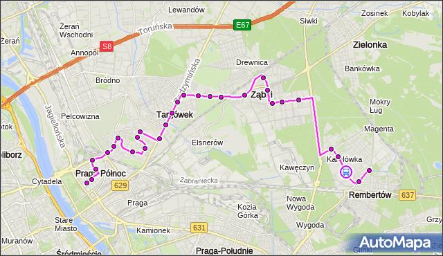 Rozkład jazdy autobusu 199 na przystanku Zawodowa 01. ZTM Warszawa na mapie Targeo