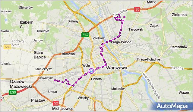 Rozkład jazdy autobusu 127 na przystanku Białobrzeska 01. ZTM Warszawa na mapie Targeo