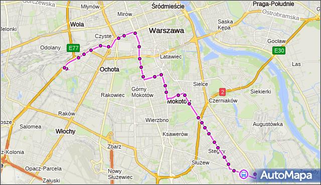 Rozkład jazdy autobusu 130 na przystanku Królowej Marysieńki 01. ZTM Warszawa na mapie Targeo