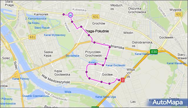 Rozkład jazdy autobusu 311 na przystanku Międzyborska 08. ZTM Warszawa na mapie Targeo