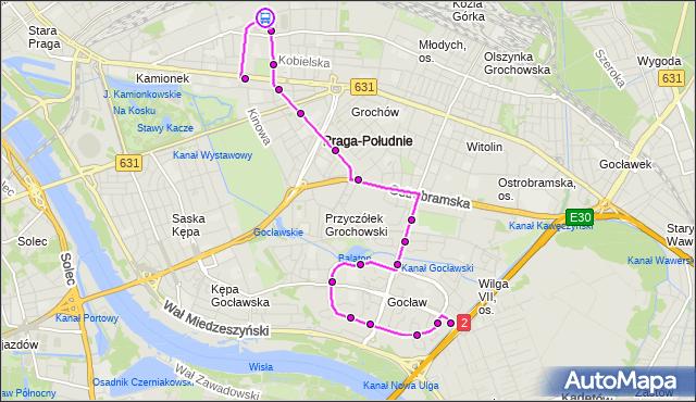 Rozkład jazdy autobusu 311 na przystanku Tor Kolarski 01. ZTM Warszawa na mapie Targeo
