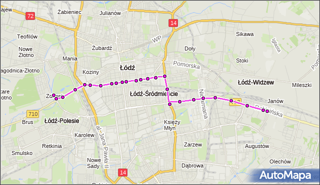 Rozkład jazdy tramwaju 9 na przystanku Zielona/Piotrkowska. MPK Łódź na mapie Targeo