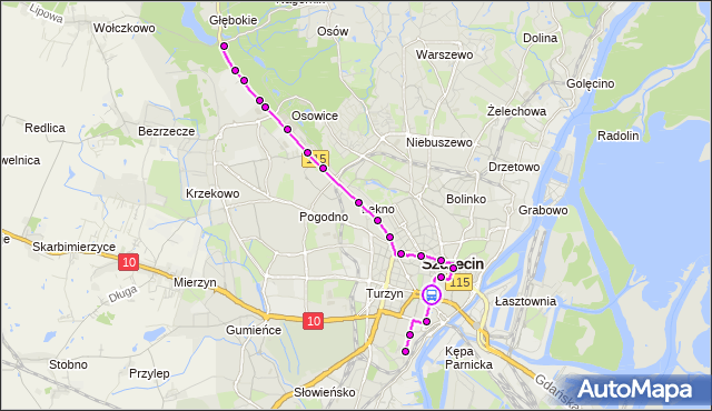 Rozkład jazdy tramwaju 1 na przystanku Brama Portowa 12. ZDiTM Szczecin na mapie Targeo