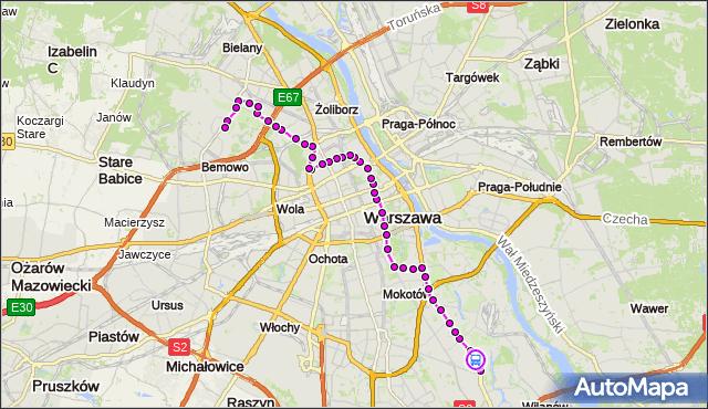 Rozkład jazdy autobusu 180 na przystanku Kosiarzy 02. ZTM Warszawa na mapie Targeo