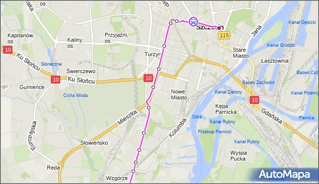 Rozkład jazdy autobusu 524 na przystanku Plac Grunwaldzki 23. ZDiTM Szczecin na mapie Targeo