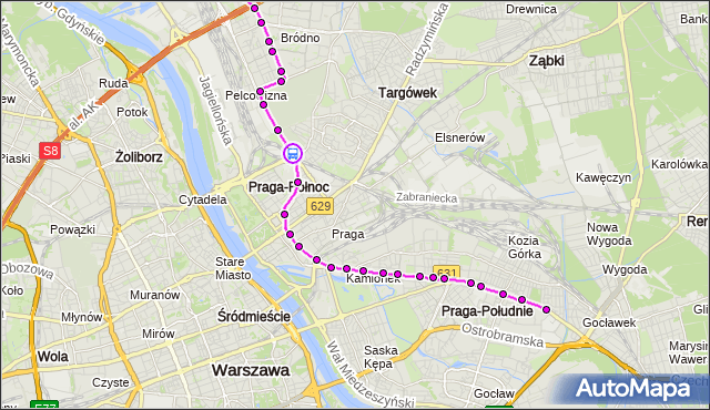 Rozkład jazdy tramwaju 3 na przystanku rondo Żaba 03. ZTM Warszawa na mapie Targeo