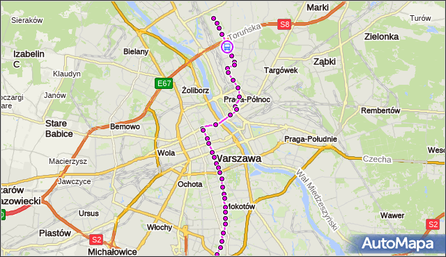 Rozkład jazdy tramwaju 4 na przystanku Kondratowicza 03. ZTM Warszawa na mapie Targeo