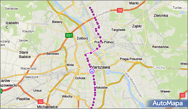 Rozkład jazdy tramwaju 4 na przystanku pl.Zbawiciela 03. ZTM Warszawa na mapie Targeo