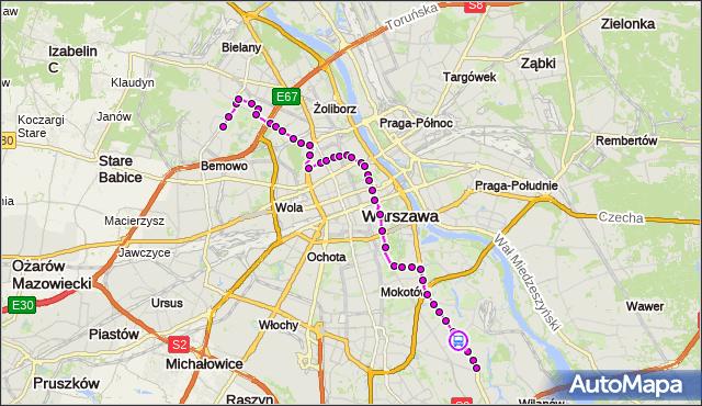 Rozkład jazdy autobusu 180 na przystanku Wiertnicza 01. ZTM Warszawa na mapie Targeo