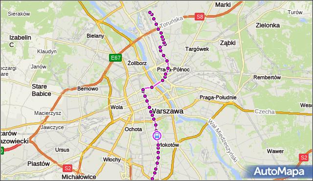 Rozkład jazdy tramwaju 4 na przystanku Dworkowa 06. ZTM Warszawa na mapie Targeo