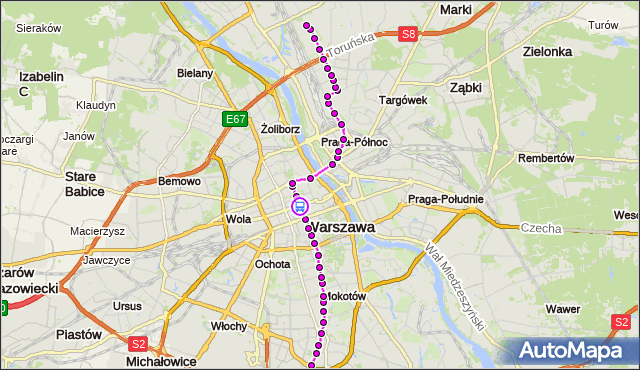 Rozkład jazdy tramwaju 4 na przystanku Metro Świętokrzyska 06. ZTM Warszawa na mapie Targeo