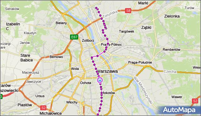 Rozkład jazdy tramwaju 4 na przystanku pl.Unii Lubelskiej 06. ZTM Warszawa na mapie Targeo