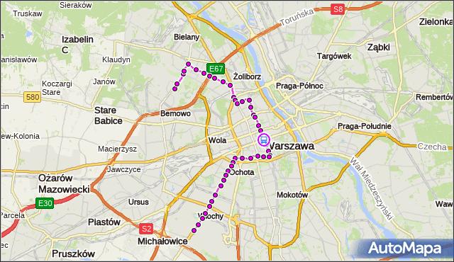 Rozkład jazdy tramwaju 35 na przystanku Centrum 07. ZTM Warszawa na mapie Targeo
