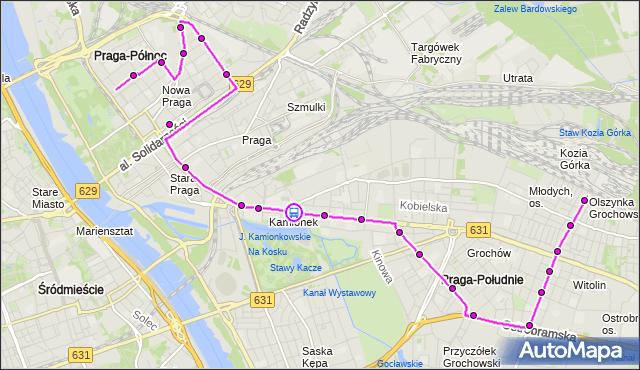 Rozkład jazdy autobusu 135 na przystanku Bliska 01. ZTM Warszawa na mapie Targeo