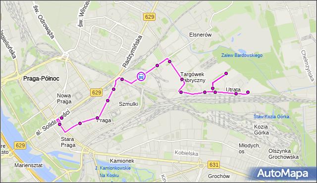 Rozkład jazdy autobusu 338 na przystanku Chemiczna 02. ZTM Warszawa na mapie Targeo