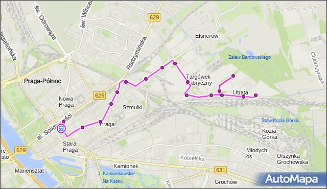 Rozkład jazdy autobusu 338 na przystanku Dw.Wileński 01. ZTM Warszawa na mapie Targeo