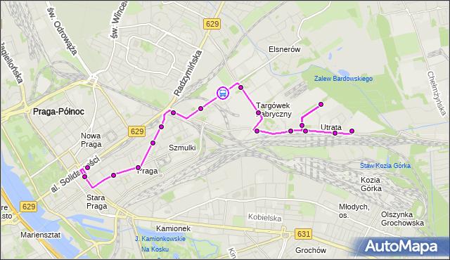 Rozkład jazdy autobusu 338 na przystanku Hutnicza 02. ZTM Warszawa na mapie Targeo