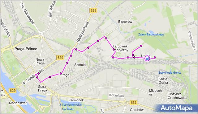 Rozkład jazdy autobusu 338 na przystanku Łubinowa 02. ZTM Warszawa na mapie Targeo