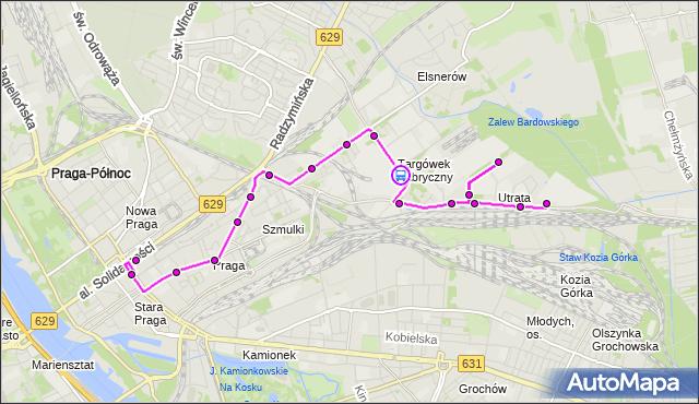 Rozkład jazdy autobusu 338 na przystanku Nieświeska 02. ZTM Warszawa na mapie Targeo