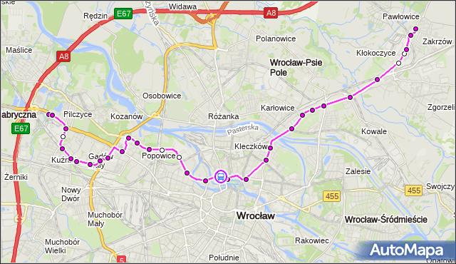 Rozkład jazdy autobusu 128 na przystanku Pomorska. MPKWroclaw na mapie Targeo