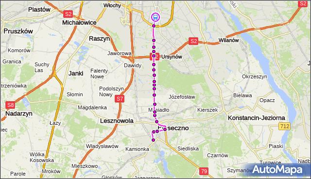 Rozkład jazdy autobusu 709 na przystanku al.Lotników 02. ZTM Warszawa na mapie Targeo