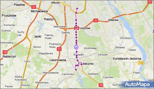 Rozkład jazdy autobusu 709 na przystanku Dąbrówka 02. ZTM Warszawa na mapie Targeo