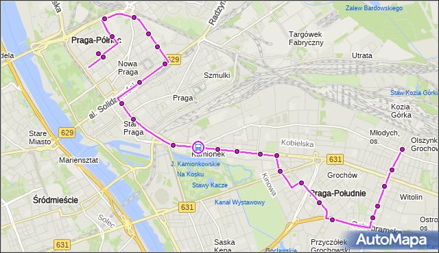 Rozkład jazdy autobusu 135 na przystanku Lubelska 02. ZTM Warszawa na mapie Targeo