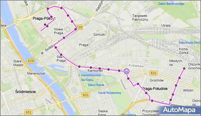 Rozkład jazdy autobusu 135 na przystanku Międzyborska 08. ZTM Warszawa na mapie Targeo