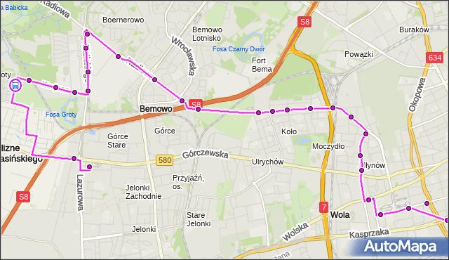 Rozkład jazdy autobusu N95 na przystanku Arkadyjska 01. ZTM Warszawa na mapie Targeo