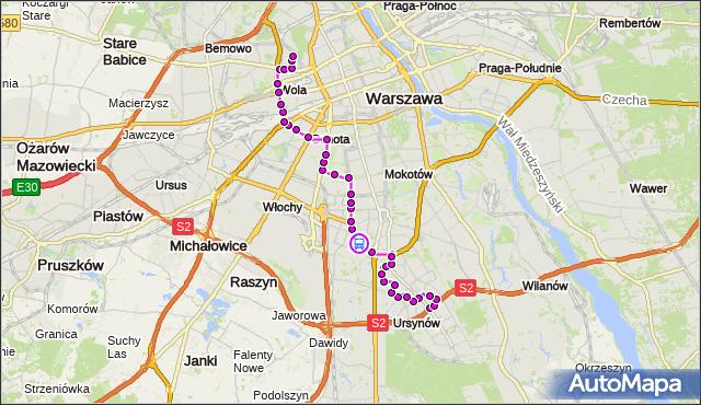 Rozkład jazdy autobusu 136 na przystanku Bartłomieja 02. ZTM Warszawa na mapie Targeo