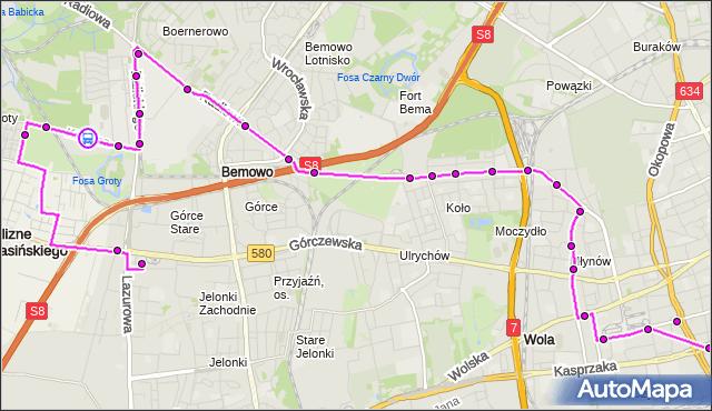 Rozkład jazdy autobusu N95 na przystanku Kocjana-Sądy 01. ZTM Warszawa na mapie Targeo