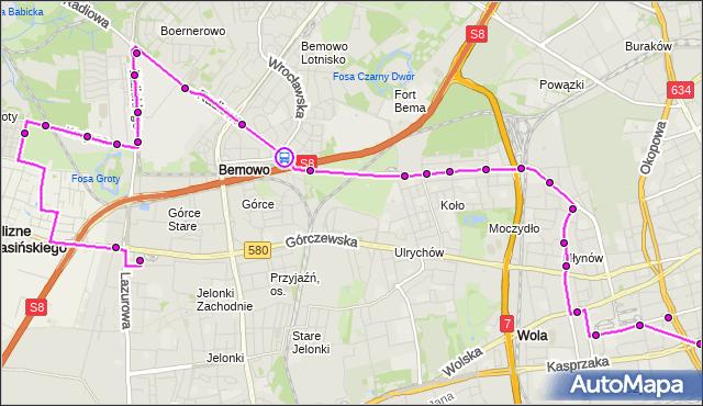 Rozkład jazdy autobusu N95 na przystanku Orlich Gniazd 03. ZTM Warszawa na mapie Targeo
