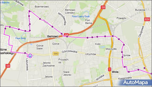 Rozkład jazdy autobusu N95 na przystanku os.Górczewska 09. ZTM Warszawa na mapie Targeo