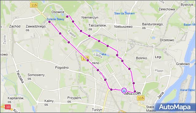 Rozkład jazdy tramwaju 3 na przystanku Plac Grunwaldzki 11. ZDiTM Szczecin na mapie Targeo