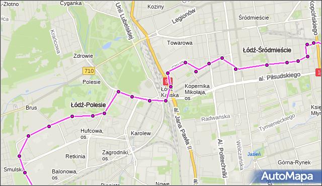 Rozkład jazdy autobusu 80 na przystanku Przędzalniana/Nawrot. MPK Łódź na mapie Targeo