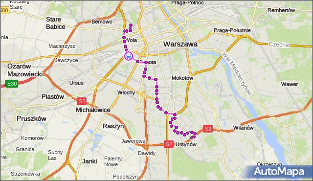 Rozkład jazdy autobusu 136 na przystanku rondo Zesłańców Syberyjskich 04. ZTM Warszawa na mapie Targeo