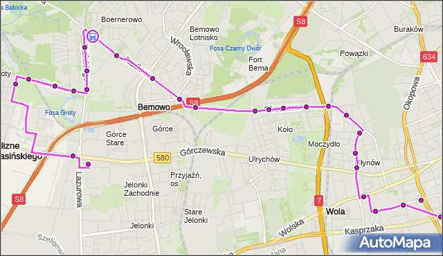 Rozkład jazdy autobusu N95 na przystanku Stare Bemowo 07. ZTM Warszawa na mapie Targeo