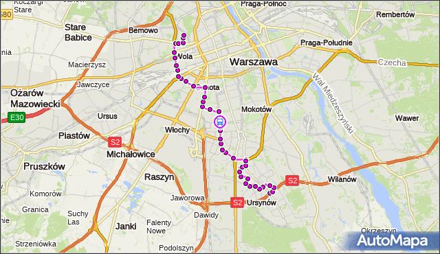 Rozkład jazdy autobusu 136 na przystanku Woronicza 02. ZTM Warszawa na mapie Targeo