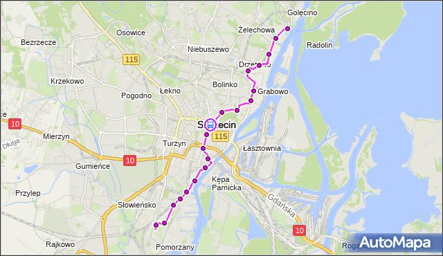 Rozkład jazdy tramwaju 3 na przystanku Plac Rodła 34. ZDiTM Szczecin na mapie Targeo