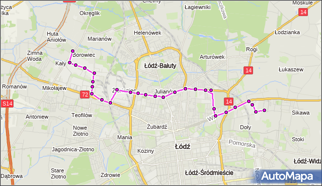 Rozkład jazdy autobusu 81 na przystanku Wojska Polskiego/Oświatowa. MPK Łódź na mapie Targeo