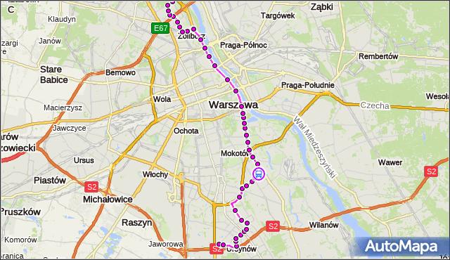 Rozkład jazdy autobusu 185 na przystanku Klarysewska 01. ZTM Warszawa na mapie Targeo
