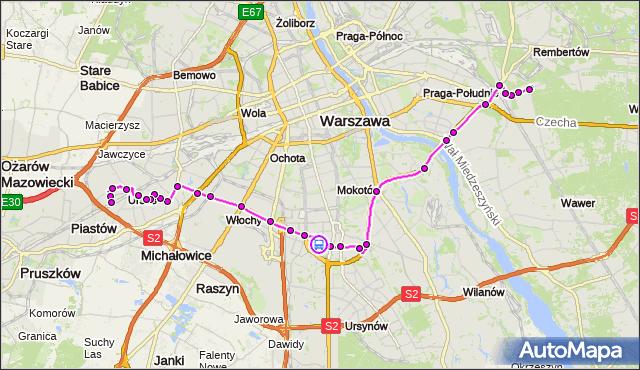 Rozkład jazdy autobusu 401 na przystanku Bełdan 02. ZTM Warszawa na mapie Targeo