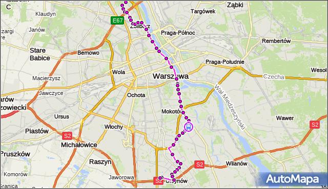 Rozkład jazdy autobusu 185 na przystanku Klarysewska 02. ZTM Warszawa na mapie Targeo