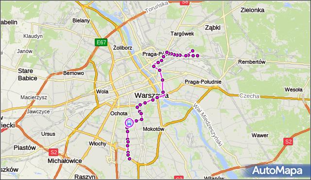 Rozkład jazdy autobusu 138 na przystanku Łowicka 02. ZTM Warszawa na mapie Targeo