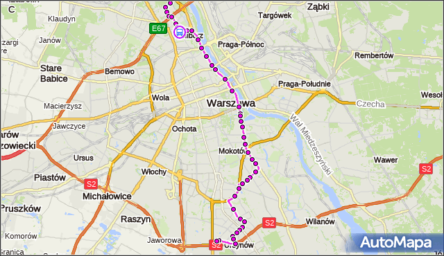 Rozkład jazdy autobusu 185 na przystanku pl.Wilsona 03. ZTM Warszawa na mapie Targeo