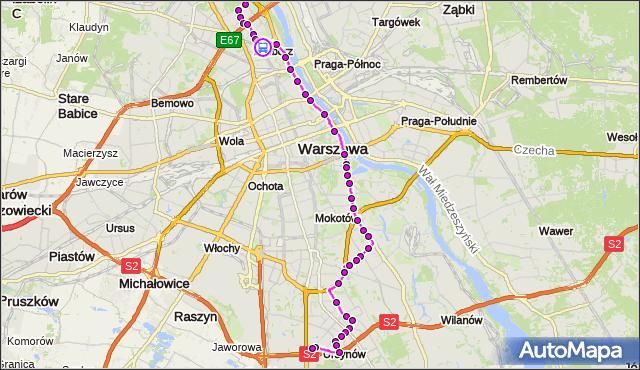 Rozkład jazdy autobusu 185 na przystanku pl.Wilsona 05. ZTM Warszawa na mapie Targeo