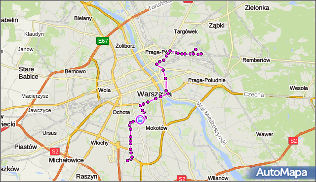 Rozkład jazdy autobusu 138 na przystanku Madalińskiego-Szpital 01. ZTM Warszawa na mapie Targeo