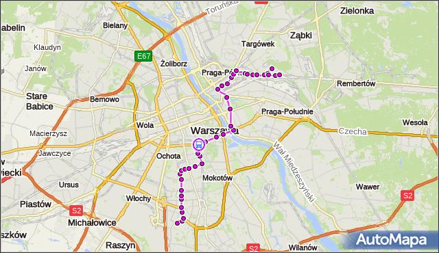 Rozkład jazdy autobusu 138 na przystanku Marszałkowska 01. ZTM Warszawa na mapie Targeo
