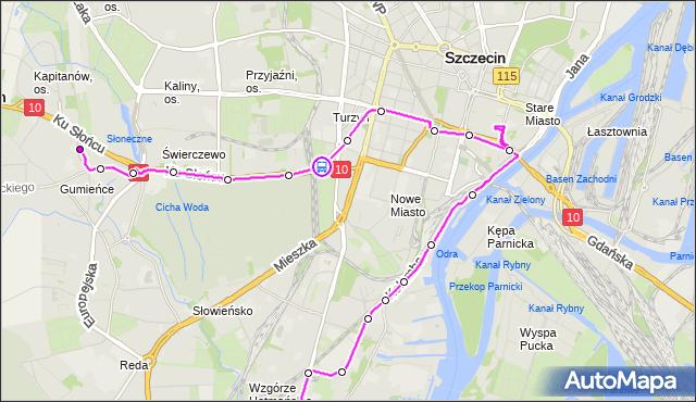 Rozkład jazdy autobusu 528 na przystanku Osiedle Akademickie 14. ZDiTM Szczecin na mapie Targeo