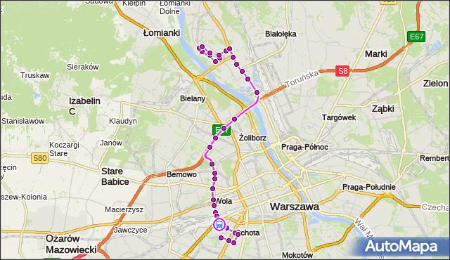 Rozkład jazdy autobusu 186 na przystanku rondo Zesłańców Syberyjskich 03. ZTM Warszawa na mapie Targeo